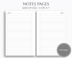 printable planner notes notes pages pt paper