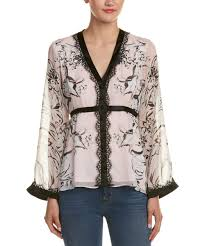 nanette lepore nanette lepore nanette lepore bellagio silk blouse bluefly