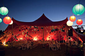 outdoor party tent lighting the paper lanterns on this tent combined with the circus like lights