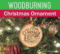 woodburning christmas ornament guest post spot of tea designs