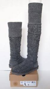 twisted boots womens australia ugg australia the knee twisted cable knit boots womens 5 gray