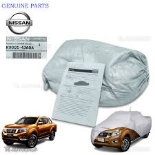 nissan genuine accessories malaysia fit nissan navara np300 4dr d23 2015 2016 genuine silver polyester