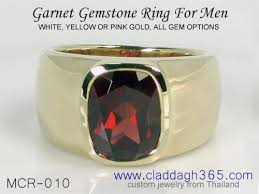 just men rings garnet rings for men claddagh365 gold and 925 silver men s garnet
