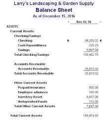building better business finances the quickbooks balance sheet