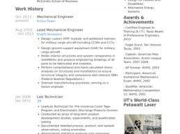 Sample Of Resume For Mechanical Engineer 24 Mechanical Engineering Technician Resume Sample Resume Samples