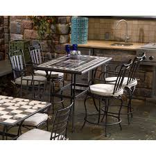 Mosaic Dining Room Table Alfresco Home Gibraltar 4 Person Mosaic Counter Height Dining Set