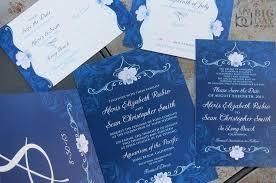 wedding invitations blue orchid wedding invitation suite navy blue wedding