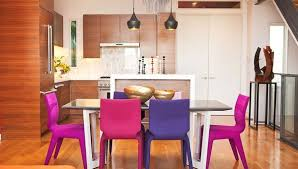 Colored Dining Chairs Colors Of Nature Contemporary Interiors With A Dash Of Fuchsia