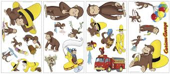 curious george small wall decals birthdayexpress com