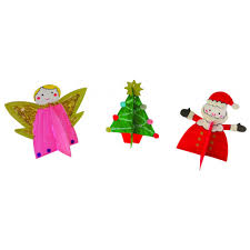 3d christmas decorations 3 pack angel tree star christmas