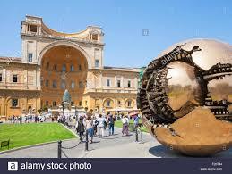 cortile della pigna sphere within sphere by pomodoro cortile della pigna inside the