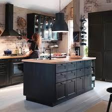 ikea black brown kitchen cabinets ikea laxarby zoeken kitchen ikea metod