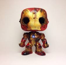 Superhero Toaster Damaged Ironman Pop Vinyl By Rusty Toaster Trampt Library
