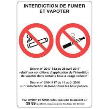 vapoter au bureau panneau interdit de fumer et de vapoter 21x15cm n c vente de
