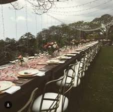 table and chair rentals big island dreamy twinkle lights with paper lanterns to set the mood big