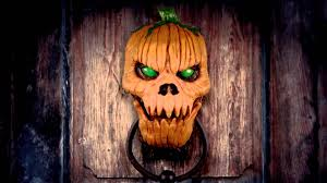 convulsing nurse spirit halloween pumpkin door knocker youtube
