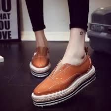 Platform Heels Comfort 2016 Leather Boat Shoes Comfort Nurse Shoes Wedges Breathable