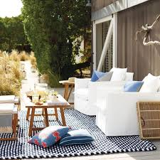 Navy And White Outdoor Rug Outside Is The New Inside Serenaandlily Outdoor Living