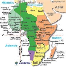 utc zone map africa timezone map