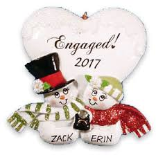engagement ornaments free personalization