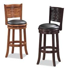 Comfortable Bar Stools Furniture Rattan Braid With Cuhsion 24 Inch Bar Stools For