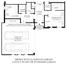 Garage Layout Plans The Overlook At Firerock The Agua Fria Home Design