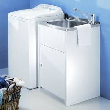 Laundry Room Tub Sink by Decor Single Bowl Stainless Steel Utility Tub Cabinet With Pull