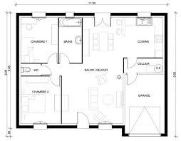 plan de maison gratuit 3 chambres délicieux plan de maison gratuit 3 chambres 8 maison 3 pi232ces
