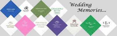 personalized napkins for weddings baby showers anniversaries
