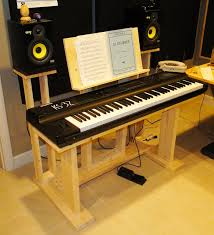 Studio Desk Diy Recording Studio Stuff Diy Keyboard Desk Stand