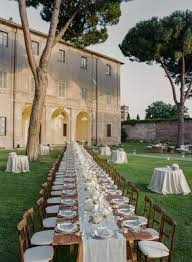 outside weddings classic summer wedding in rome italy with rustic elements