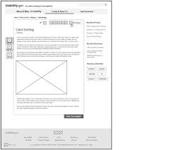 wireframing usability gov