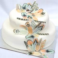 wedding cake ideas rustic edible feathers chocolate orange boho wedding cake decorations