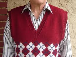 classic argyle vest knitting patterns and crochet patterns from