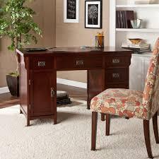 Computer Desk Cherry Wood Southern Enterprises Dark Cherry Finish And Aged Bronze Finish