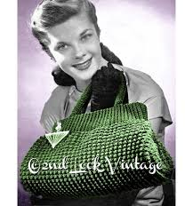 Vintage Crochet Pattern Pdf Fashion by Vintage Crochet Pattern 1940s Crocheted Doctor Bag Purse Tote