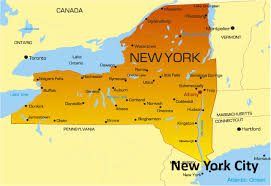 nice new york map us tours maps pinterest