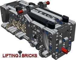 lego moc 1152 gearbox 6 speed n r technic 2014 rebrickable