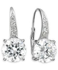 leverback earrings giani bernini cubic zirconia leverback earrings in 18k gold