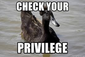 Advice Mallard Meme Generator - check your privilege black advice mallard meme generator