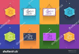 multicolored flat web ad template vector stock vector 584219245