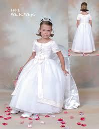 Flower Girls Dresses For Less - short sleeves floor length newest first communion dress bsfcd 003
