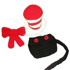 cat in the hat costume 2017 crochet baby cat in the hat costume handmade baby boy girl