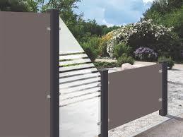Trennwand Garten Glas Sichtschutz Kombiniert Aus Kompaktplatten Und Glas Glas Setzt