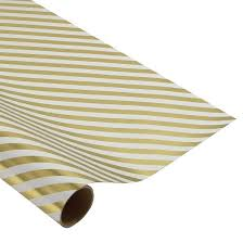 foil gift wrap gold foil diagonal stripe gift wrap spritz target