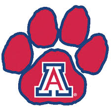 logo university arizona wildcats red paw print fanapeel