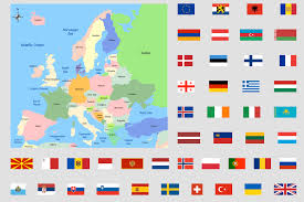 a map of europe with countries conceptdraw sles maps continent