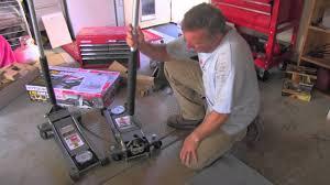 Craftsman 1 5 Ton Floor Jack by 3 Ton Floor Jack Low Profile Youtube