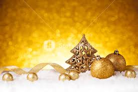 golden fir tree decoration with gold ornaments royalty