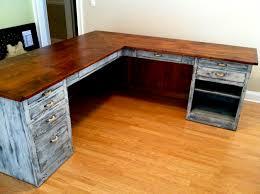wood plank desk best l shaped ideas on pinterest office desks